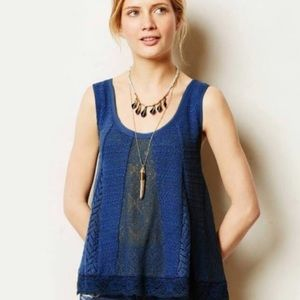 MEADOW RUE BY ANTHROPOLOGY LACY FESTIVAL TANK TOP